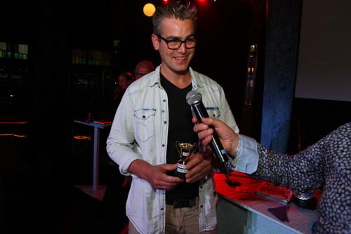 De dolblije winnaar van de 'ADWW', Patrick KNot van Slagerij Patrick.